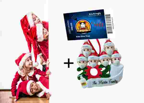 Kids Eat Free Lifetime Card With Free Customizable Family Ornament